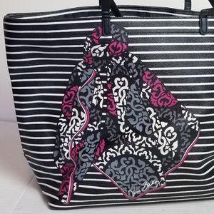 VERA BRADLEY Double-Take striped tote bag